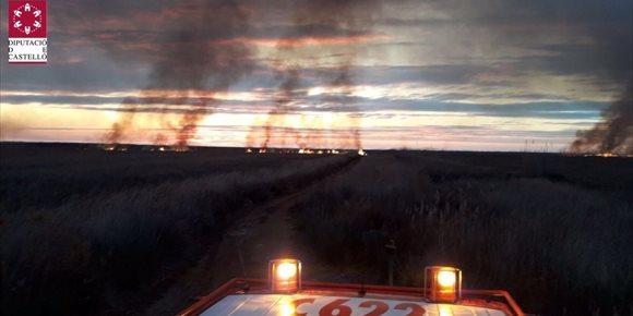 2. Controlado el incendio forestal en el parque natural del Prat de Cabanes en Torreblanca (Castellón)