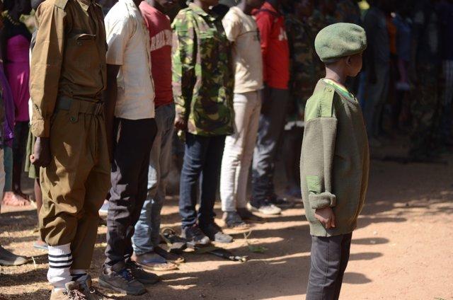 Niños soldado desmovilizados