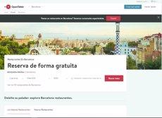 La plataforma de reserves a restaurants Opentable arriba a Espanya amb el focus posat a Barcelona (OPENTABLE)