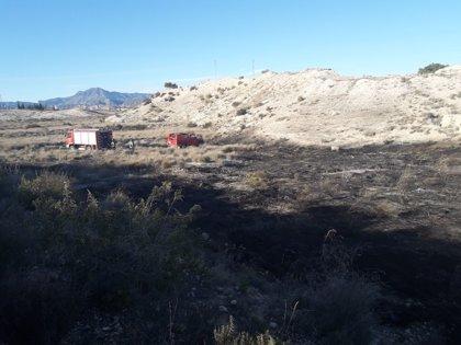 Efectivos del Plan Infomur sofocan un conato de incendio forestal en Fortuna