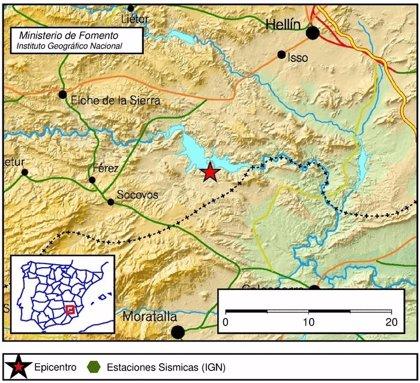 Registrados dos terremotos este lunes en Villar de Domingo García y Socovos