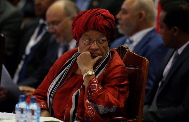 La presidenta de Liberia, Ellen Johnson Sirleaf