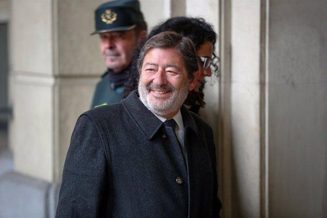 Francisco Javier Guerrero, exdirector general de Trabajo, llega al juicio ERE