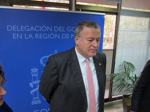 El delegado del Gobierno en la Región, Francisco Bernabé