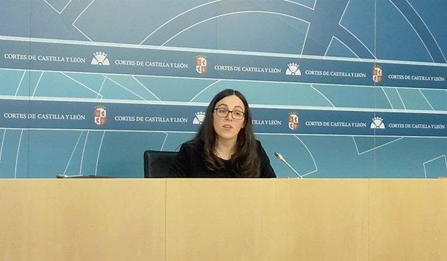 La procuradora de Podemos Laura Domínguez