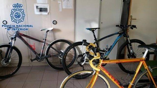 Bicicletas robadas en una imagen de archivo
