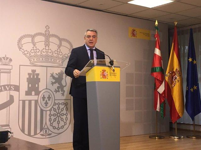 El delegado del Gobierno central en el País Vasco, Javier de Andrés