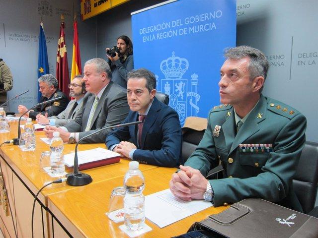 Reunión delegado del Gobierno con alcaldes y Fuerzas de Seguridad del Estado