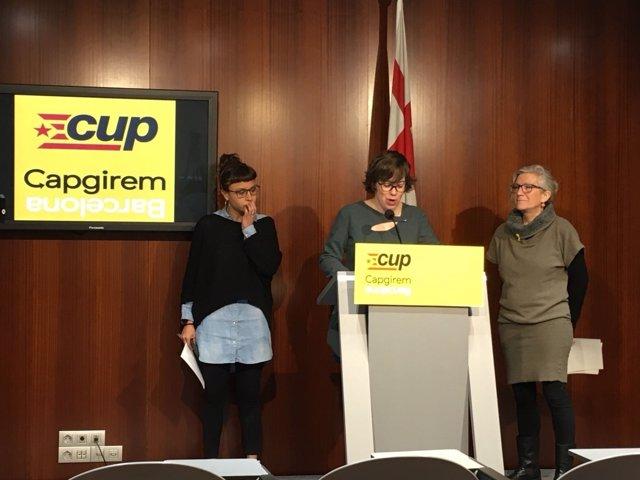 Maria Rovira, Eulàlia Reguant, Maria José Lecha (CUP)