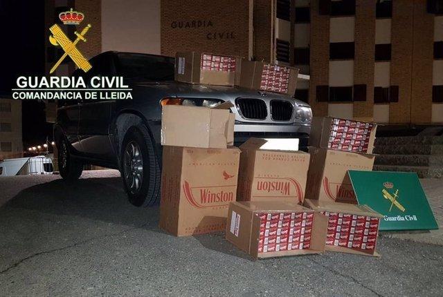 Tabaco de contrabando intervenido en La Seu d'Urgell