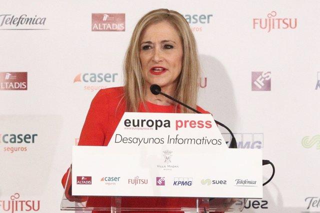 Desayuno Informativo de Europa Press con Cristina Cifuentes