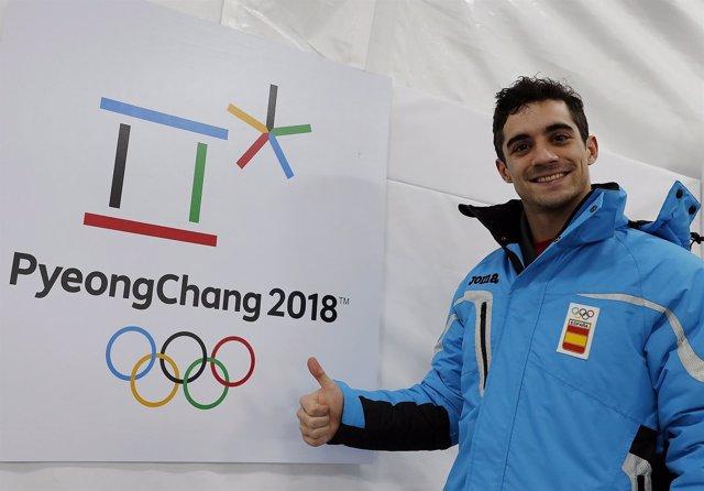 Javier Fernández en los Juegos Olímpicos de PyeongChang 2018