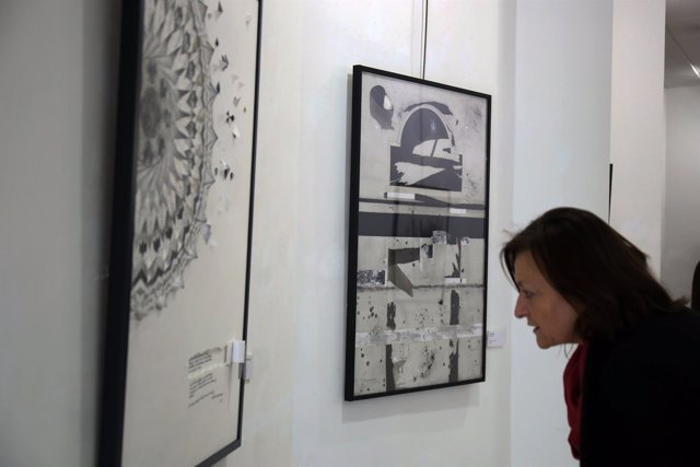Exposición unicaja aplama bienal dibujo contemporáneo