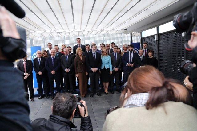 Rajoy se reúne con los presidentes regionales del PP en Génova