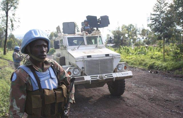 'Casco Azul' Sudafricano En Goma En La República Democrática Del Congo