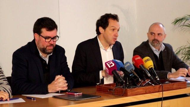 Pons y Noguera en rueda de prensa