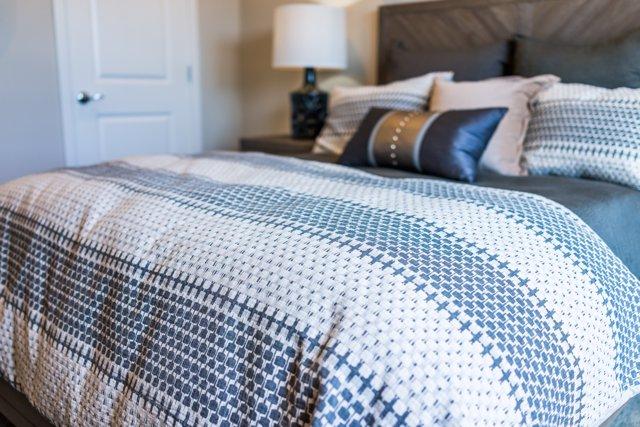Limpieza de ácaros en el edredón del dormitorio