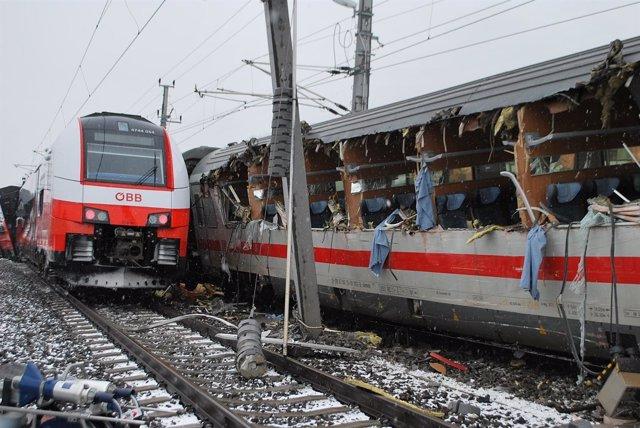 Accidente de tren en Austria