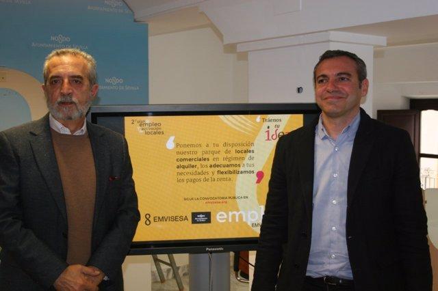 Flores y Castro presentan el plan de empleo de Emvisesa