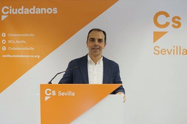El portavoz de Cs en Sevilla, Javier Millán