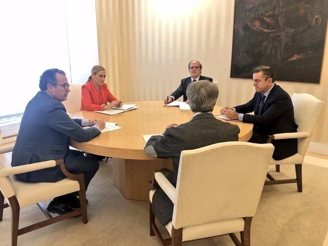 Cristina Cifuentes, Enrique Ossorio, Ángel Gabilondo, y José Manuel Franco