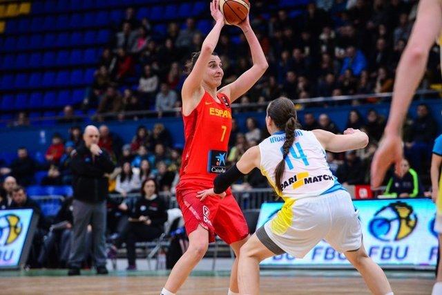 Alba Torrens en el Ucrania - España
