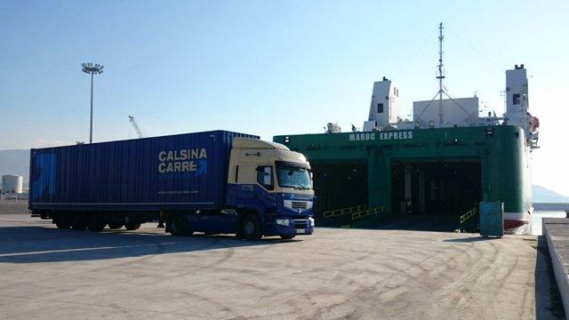 Estreno de la nueva línea marítima de FRS en Motril