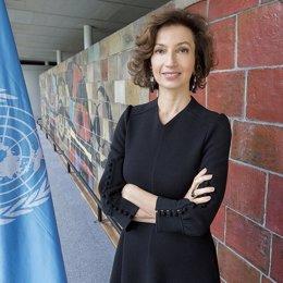 La directora general de la UNESCO, Audrey Azoulay.