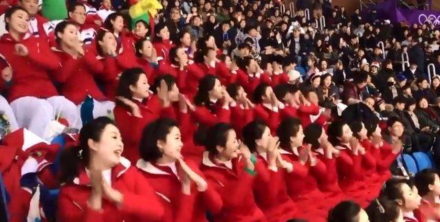 Cheerleaders norcoreanas JJOO de invierno 2018