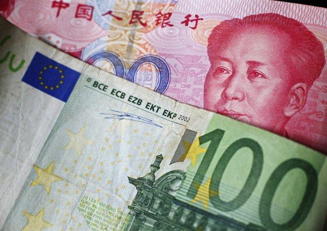 Cambios del euro, divisas combinadas, euro yuan