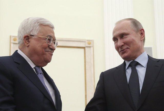 Abbas y Putin en Moscú