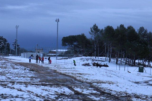 Temporal de nieve en Matadepera, Catalunya 2