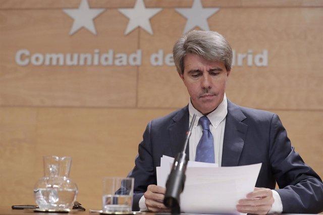 Garrido.  Rueda De Prensa Tras El Consejo De Gobierno.  Foto: D.Sinova