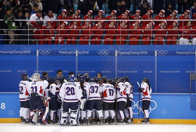 Corea Suiza hockey hielo Juegos Olímpicos Invierno Pyeongchang