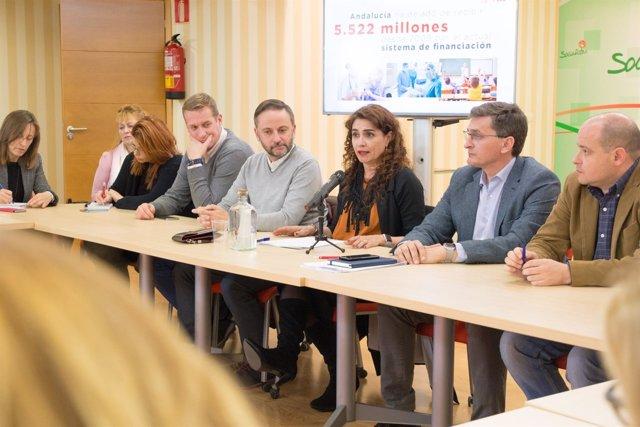 Consejera de Hacienda y Administración Pública, María Jesús Montero, en Almería