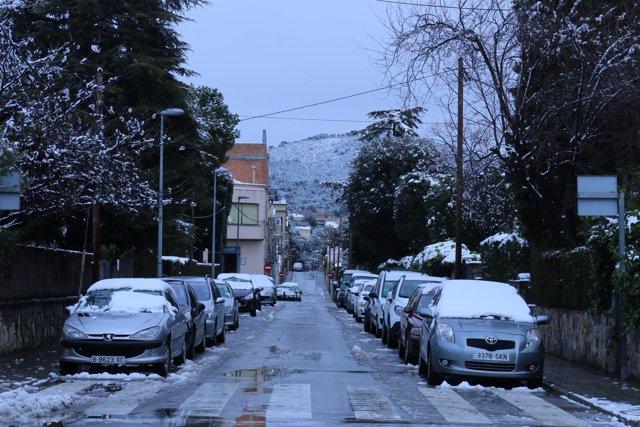 Temporal de nieve en Matadepera, Catalunya