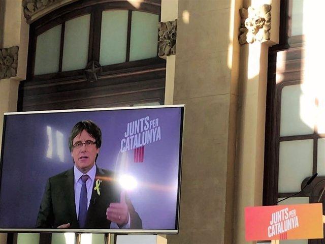 El candidato de JuntsxCat, Carles Puigdemont