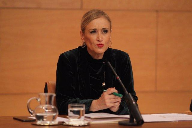 Cristina Cifuentes en rueda de prensa tras el Consejo de Gobierno