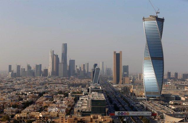 Edificios en Riad, Arabia Saudí