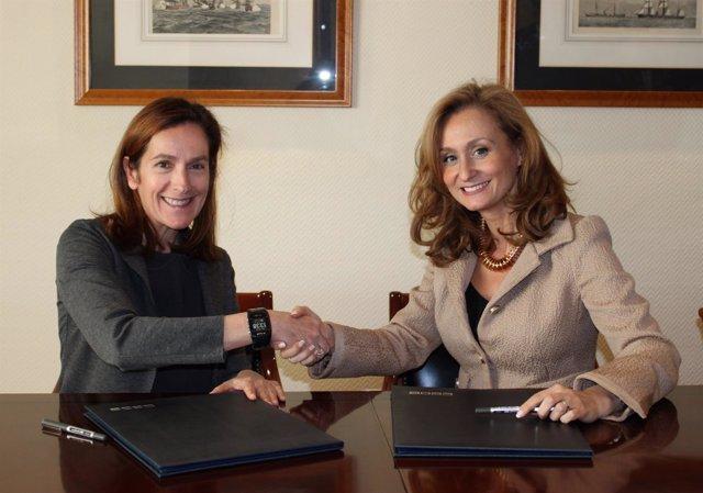 Secretaria general de CEOE, Ana Plaza, y presidenta de EJE&CON, Nerea Torres.