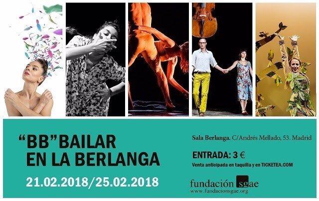 Cartel del ciclo Bailar en Berlanga