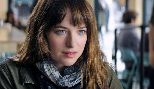 Dakota Johnson en Cincuenta Sombras de Grey