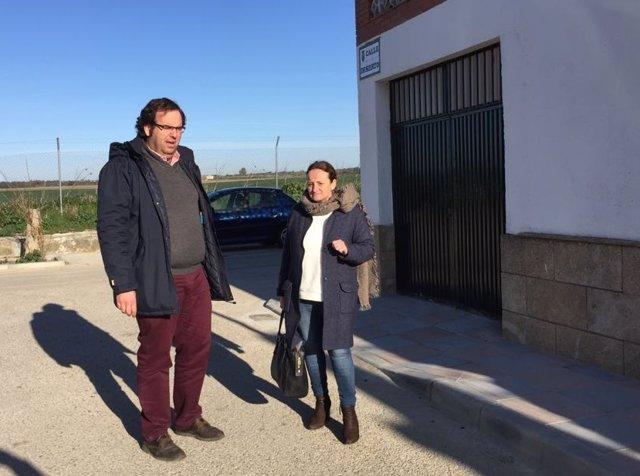 Encarnación Niño Visita Las Obras Del Centro Escolar De La Barca Y La Calle Selv