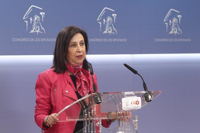 Rueda de prensa de Margarita Robles en el Congreso