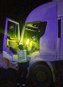 Imagen del camionero interceptado