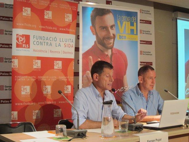 Ferran Pujol i Pep Coll presenten una campanya antiVIH