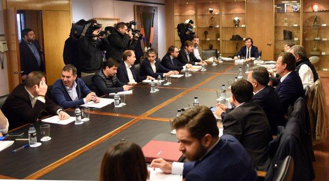 Reunión de la ACB y ABP en el CSD para desbloquear la huelga de jugadores