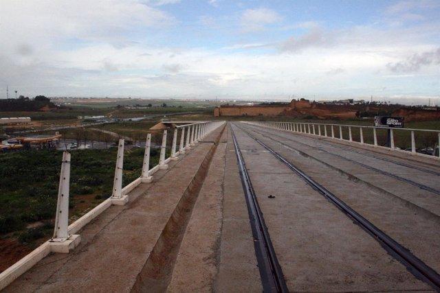 Tramo expoliado del tranvía de Alcalá