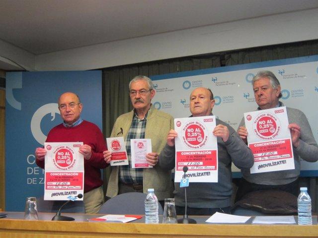"""UGT y CCOO Aragón inician movilizaciones para reclamar pensiones """"dignas"""""""