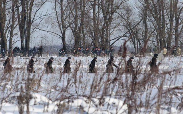 Operativo de búsqueda cerca del lugar del accidente del avión Antonov An-148